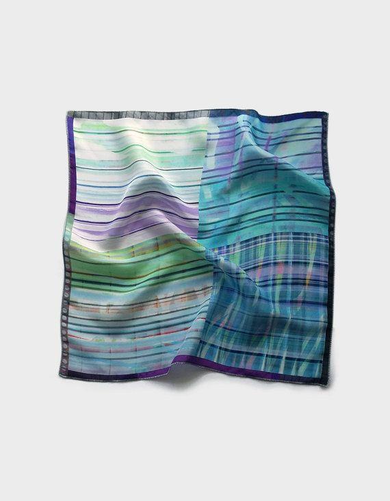 Mens pocket square, light blue pocket square scarf, silk handkerchief wedding waistcoat, tuxedo hankie, husband gifts, fathers day gift