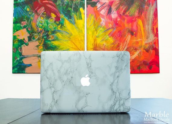 ••• WELCOME! •••  Ready to add a touch of class to your laptop with a Faux-Marble MacBook Decal? Not only does it protect your tech from scratches,