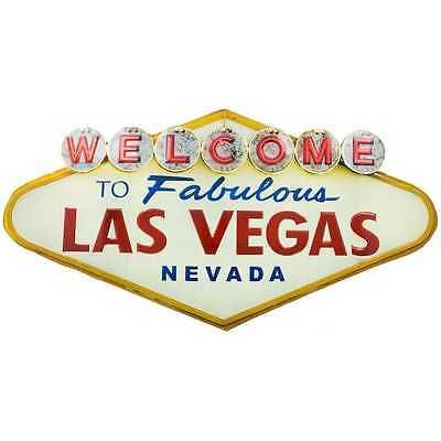 Welcome-to-Las-Vegas-Embossed-Tin-Metal-Sign-Wall-Man-cave-Decor-Game-room