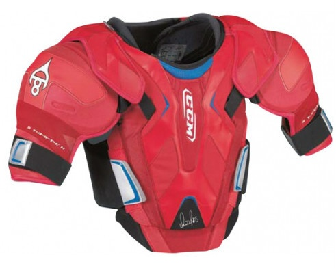 New CCM Pro GR8-Ovi hockey shoulder pads men's 'Ovechkin chest' red