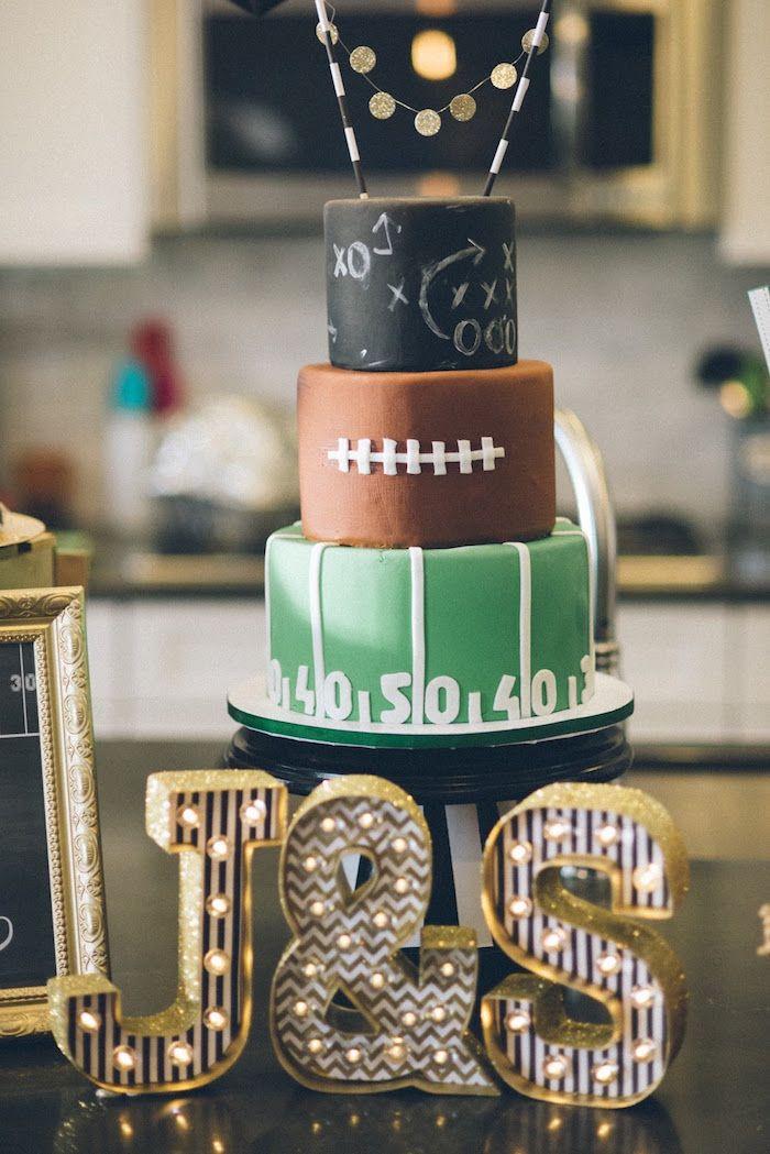 Cake Decorating Football Theme : Best 25+ Football Birthday Cake ideas on Pinterest ...