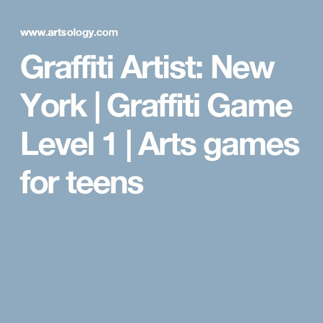 Graffiti Artist: New York | Graffiti Game Level 1 | Arts games for teens