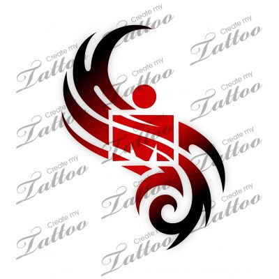 Marketplace Tattoo SBink Ironman Tribal #17275 | CreateMyTattoo.com
