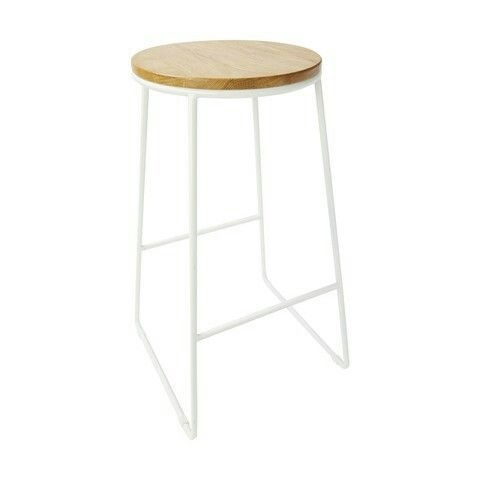 Industrial Stool - Natural & White $29.00