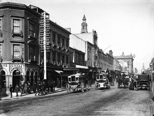 George Street, looking south from Hunter Street, Sydney c1900