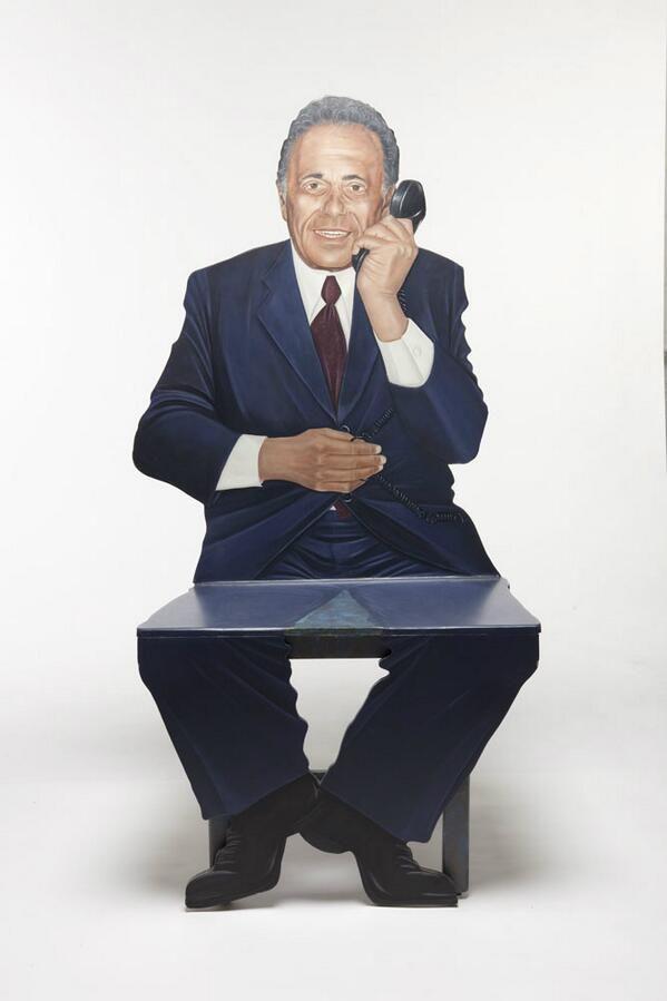 "Artifacts Toronto. ""this folk art chair featuring former Toronto Mayor Mel Lastman - love the expression """