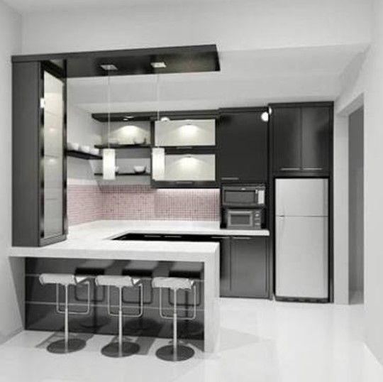 25 Desain Kitchen Set Mini Bar Dapur Minimalis Terbaru 2020 Di 2020 Mini Bars Perabotan Dapur Desain