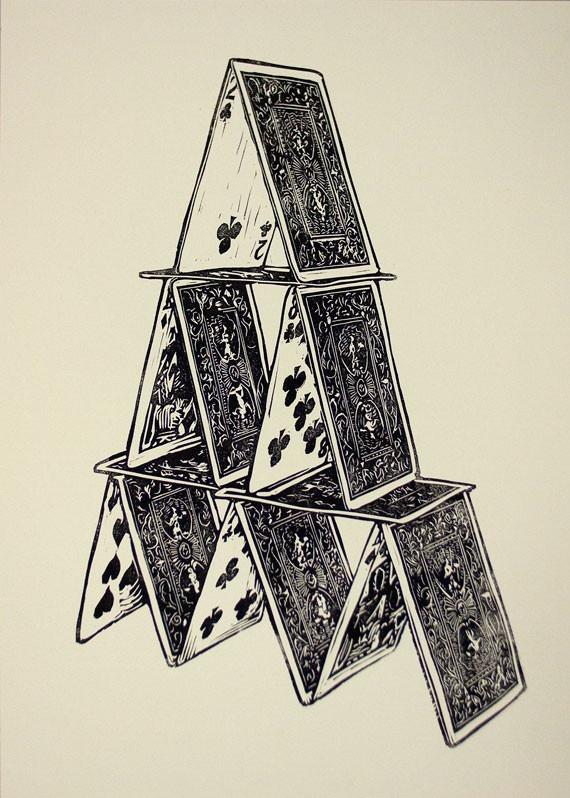 cards linocut by LionsandCranes