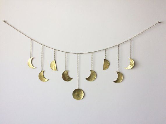 Wall Decor Moon Hanging Br