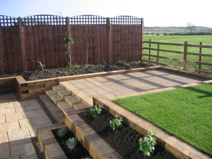 26 best Railway sleepers images on Pinterest Back garden ideas