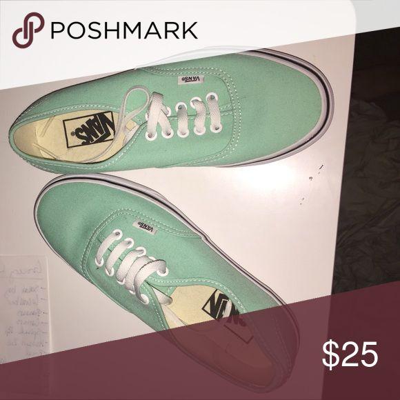 Mint Green Vans Mint Vans, never been worn Vans Shoes Sneakers