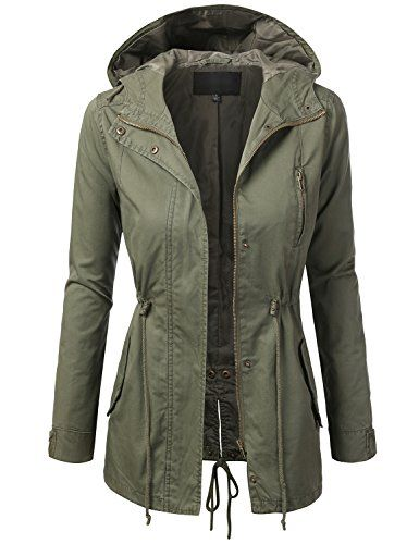 Womens Military Parka Jacket