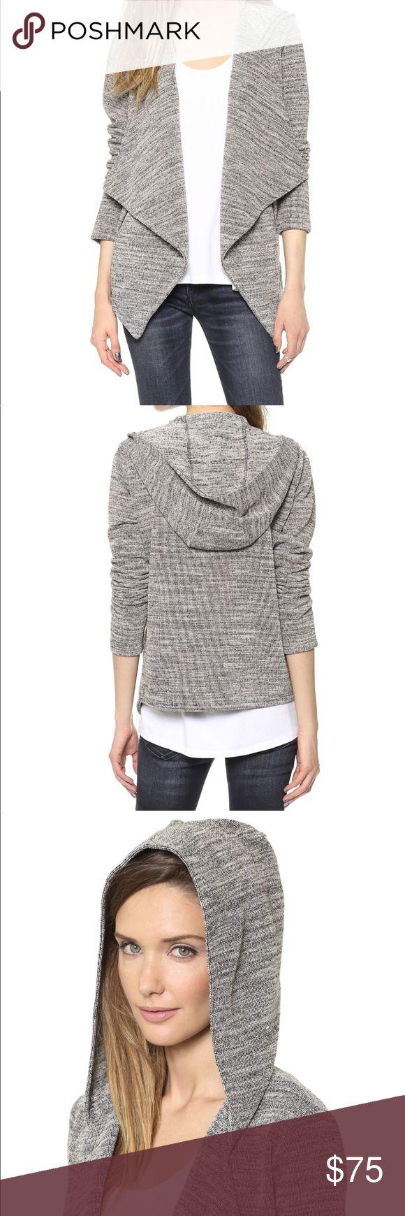 BB Dakota Corinna Hooded Jacket A draped open placket lends modern edge to this hooded jacket. Slant zip pockets detail the front. Long sleeves. Unlined. Size medium. BB Dakota Jackets & Coats