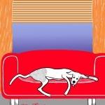 Hond gevonden voor belangrijk werk  Illustratie door Hélène Feliz.....lees haar grappige blog op hondzijn.nl....