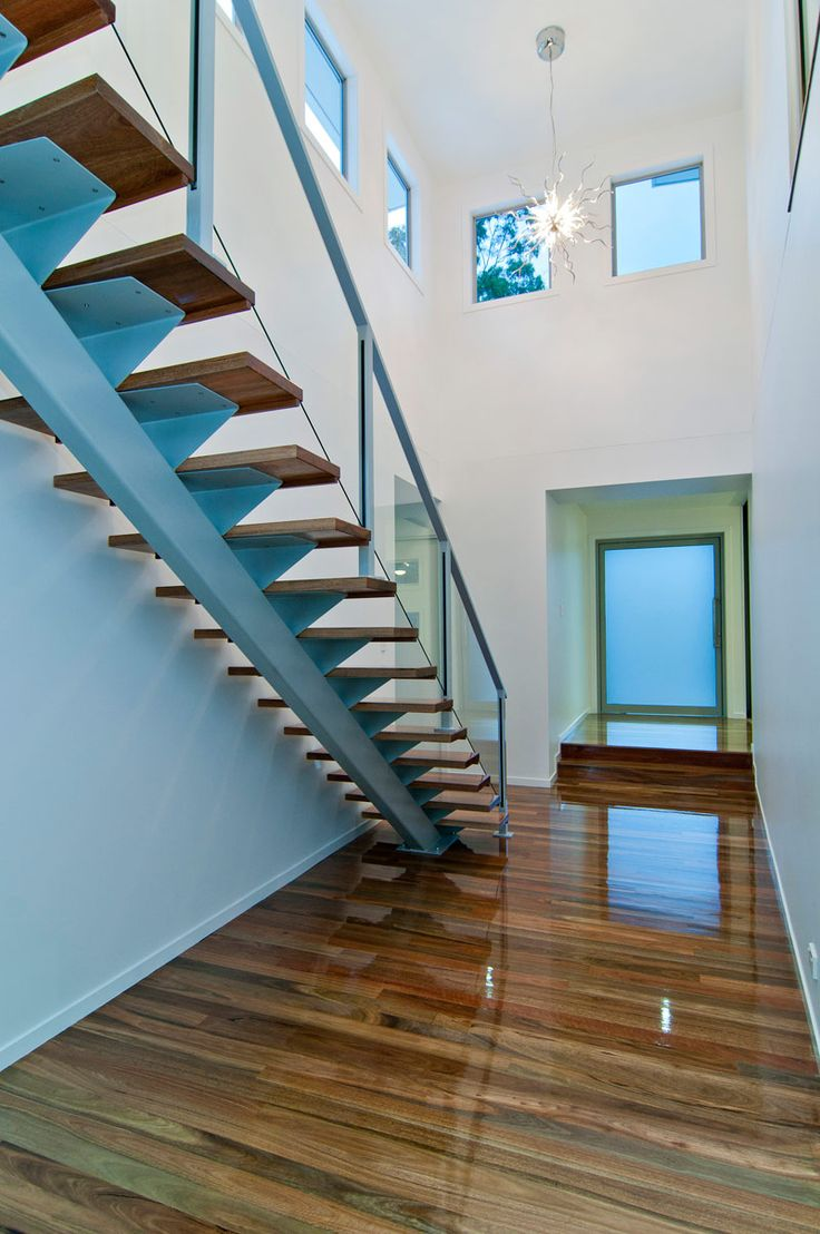 Mono Stringer Staircase Using Sydney Blue Gum Timber S