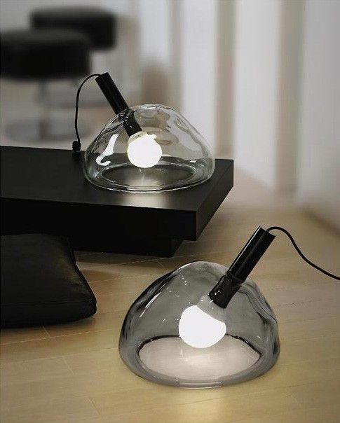 Small Glass Table Lamp By Vivarini