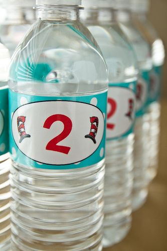 birthday party treats in a water bottle   DIY: How to Make Custom Water Bottle Labels   Confections of a Foodie ...