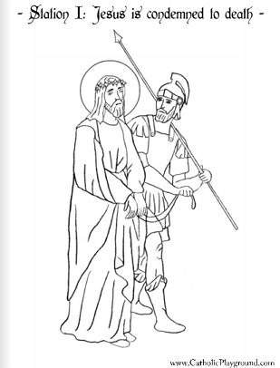Complete Stations Of The Cross Set For Coloring