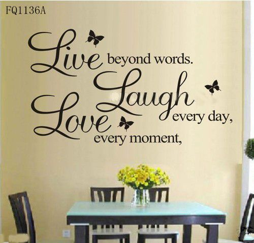 Details about LIVE LAUGH LOVE Wall Quote Stickers Removable Vinyl Decal Home Art Decoration-in Wall Stickers from Home & Garden on Aliexpres...