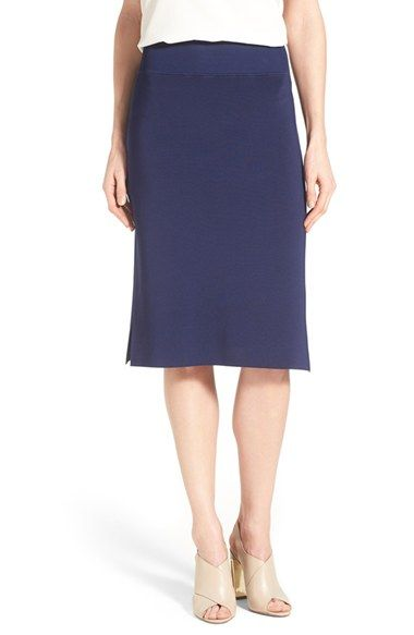 OWN from TC - Halogen® Side Slit Knit Pencil Skirt (Regular & Petite)