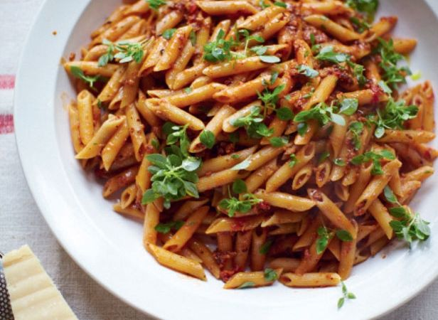 Jools Oliver's pregnant pasta for comfort food. Click the picture or see www.redonline.co.uk