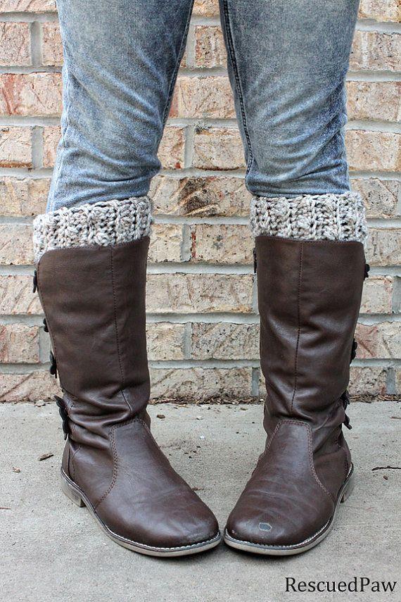 The Gabrielle Crochet Boot Cuffs
