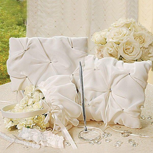 45 best wedding ceremony sets images on pinterest wedding elegant chiffon ivory wedding accessories set wedding weddingceremony weddingreception weddingcollection junglespirit Images