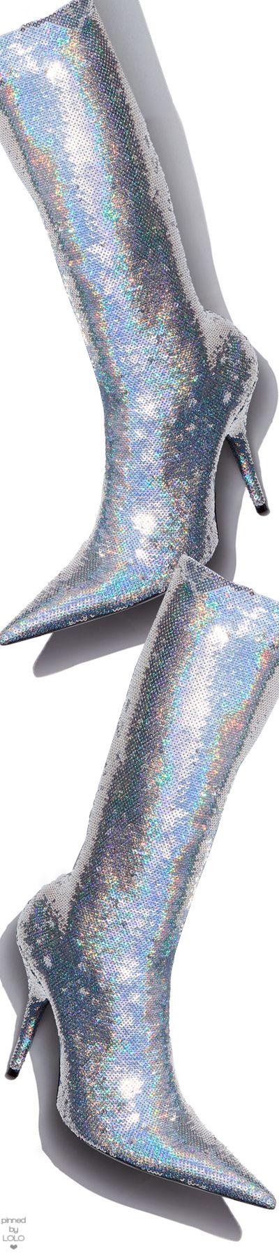 Balenciaga Sequin Sock Calf-High Bootie
