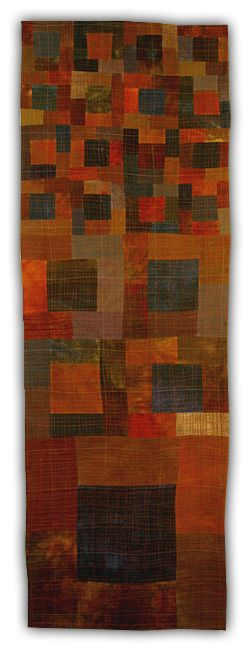 Eleanor McCain - Art Quilts: Galleries - Color Series.  Love these rich colors!