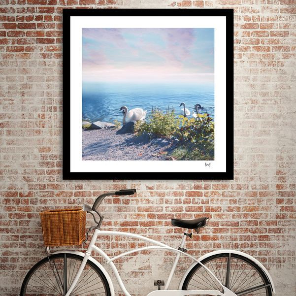Discover «Pastel vibes 37 - Los Cisnes», Numbered Edition Fine Art Print by Viviana Gonzalez - From 20€ - Curioos