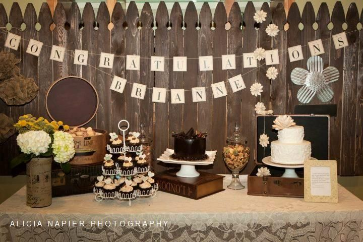 BriAnne's Graduation Party -  Decorations by me!  :)  #AliciaNapierPhotography   #party #ideas, #traveltheme, #woodenfence #fence #backdrop #chocolate #graduation #gradparty #grad #garland #cupcakes #woodfence #congratulations #partyideas #senior #graduate