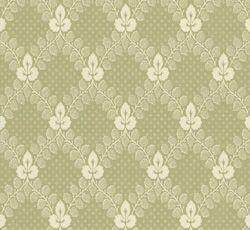Tapet - Gudmundstjärn grön/vit från Lim & Handtryck. Vacker, gammaldags tapet efter förlaga från sent 1800-tal. Välkommen in till Sekelskifte & våra klassiska tapeter!