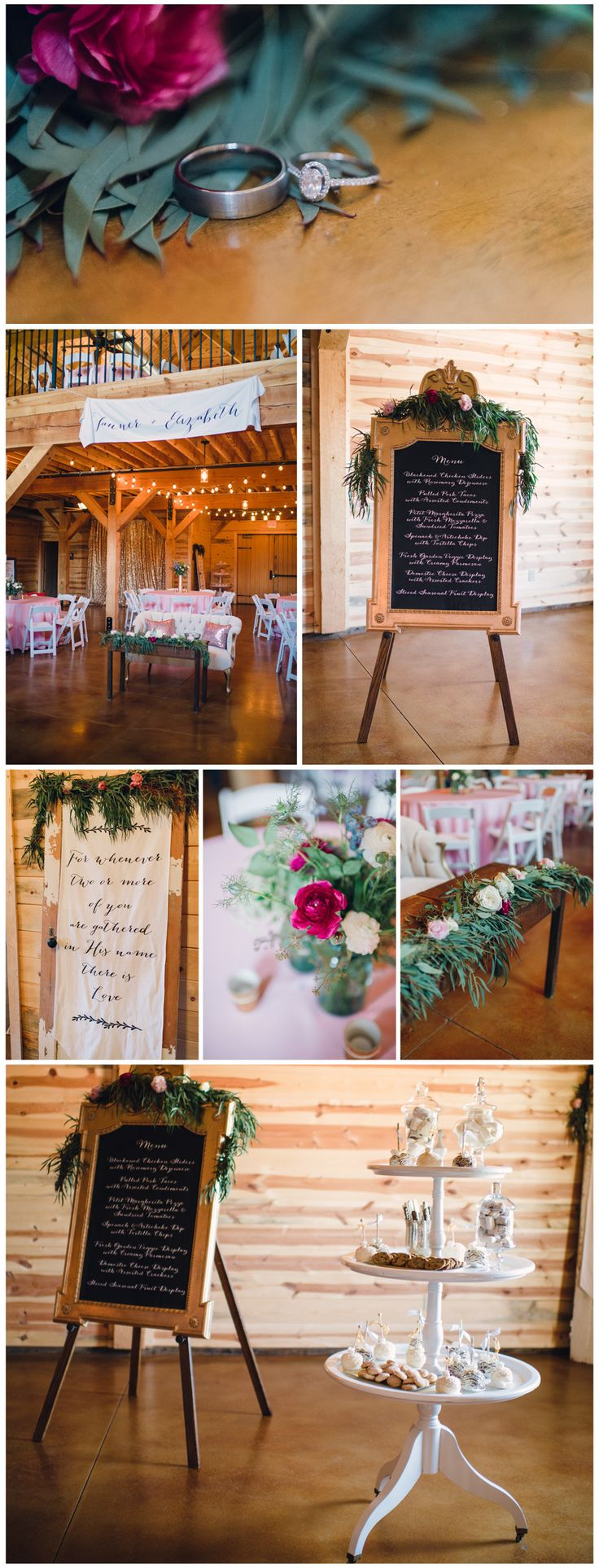 Great Details With Lots Of Florals Decorating The Inside McGranahan Barn In Oklahoma Wedding VenueBarn