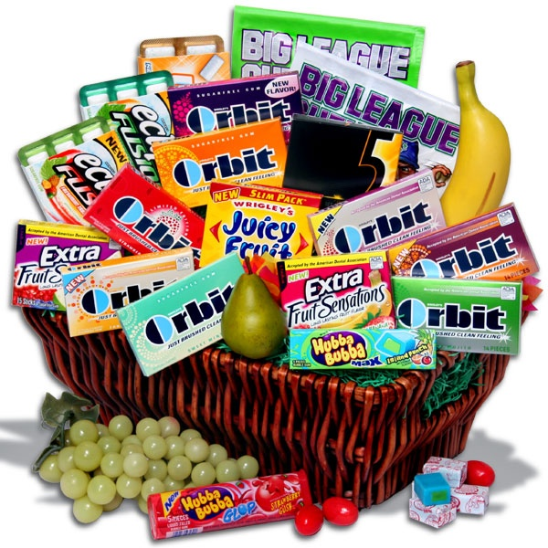 475 best images about gift ideas on pinterest box of sunshine gum gift basket this is my dream basket minus the fake fruit negle Gallery