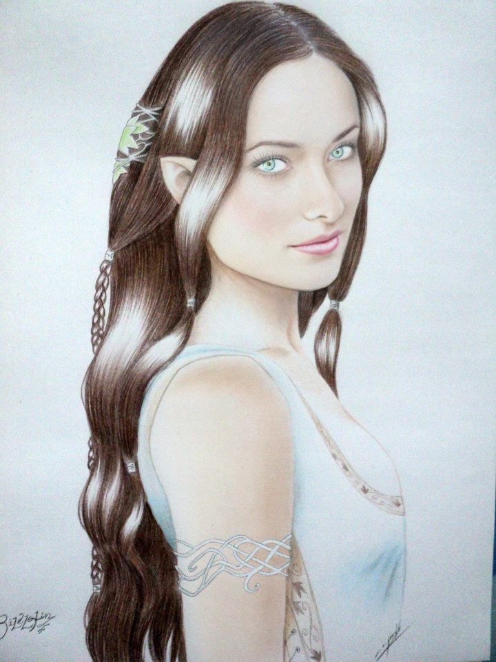 Rilelglin, graphite, pastel and color on paper...