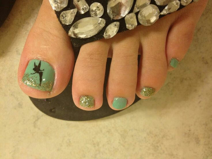 126 best toenails design images on pinterest toenails toe nail tinkerbell toes for disney world 20 days to go prinsesfo Images