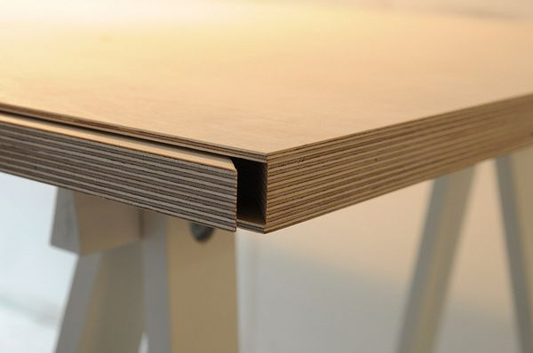 Plywood secret compartment