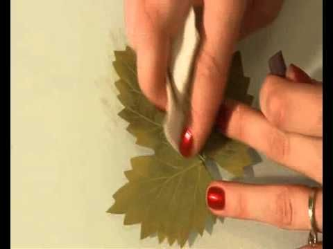 Как сделать большой листочек из фоамирана