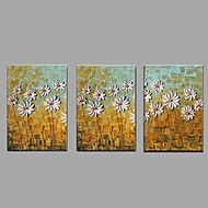 Hand+Painted+Oil+Painting+Modern+Knife+White+Chrysanthemum+Flower+3+Piece/set+Wall+Art+with+Stretched+Framed+Ready+to+Hang+–+USD+$+110.67