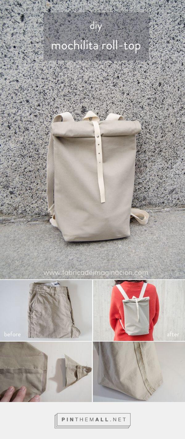 DIY Mochilita roll-top | Fábrica de Imaginación DIY | Backpack roll-top. Tutorial in spanish
