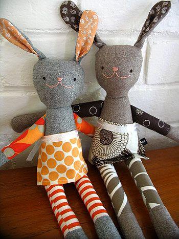 hop skip jump bunnies with sweet little aprons