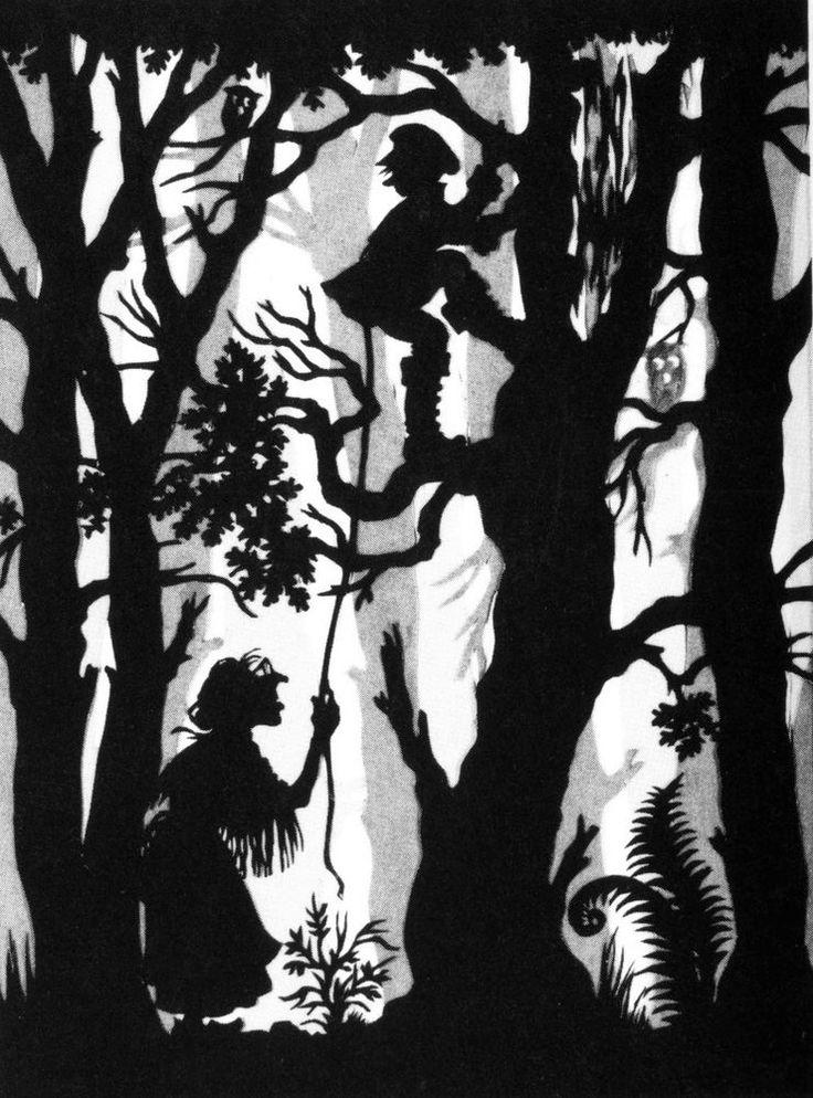 Postkarte Scherenschnitt-Motiv: DAS FEUERZEUG / Märchen Hans Christian Andersen in Sammeln & Seltenes, Ansichtskarten, Sonstige | eBay