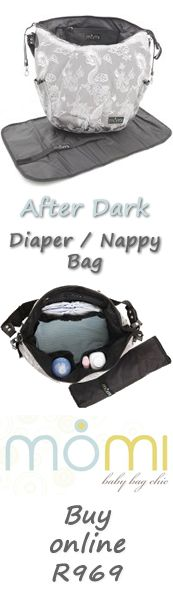 """A more formal looking diaper bag that is suitable """"After Dark"""".  Loads of room and a changing mat too!"""