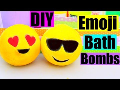 DIY EMOJI BATH BOMBS! - YouTube