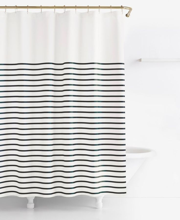 kate spade new york Harbour Stripe Shower Curtain - Shower Curtains & Accessories - Bed & Bath - Macy's