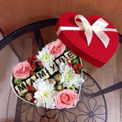 Персональные подарки ручной работы. Ярмарка Мастеров - ручная работа. Купить Подарки на день матери. Handmade. Разноцветный, цветы в коробке