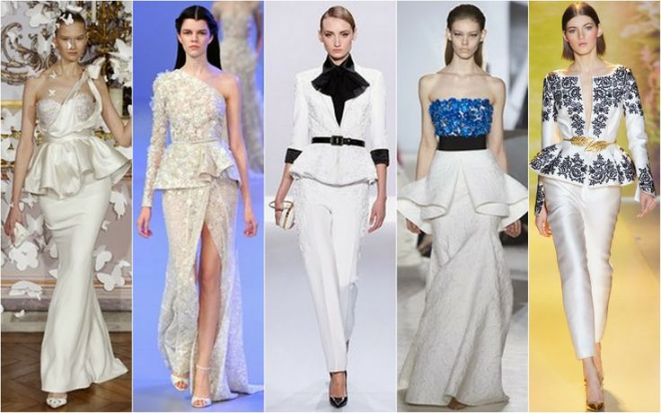 Peplum - Beautifully Fierce!: Paris Haute Couture: Spring 2014.