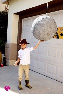 DIY Indiana Jones Boulder Pinata for my son's 6th birthday party.