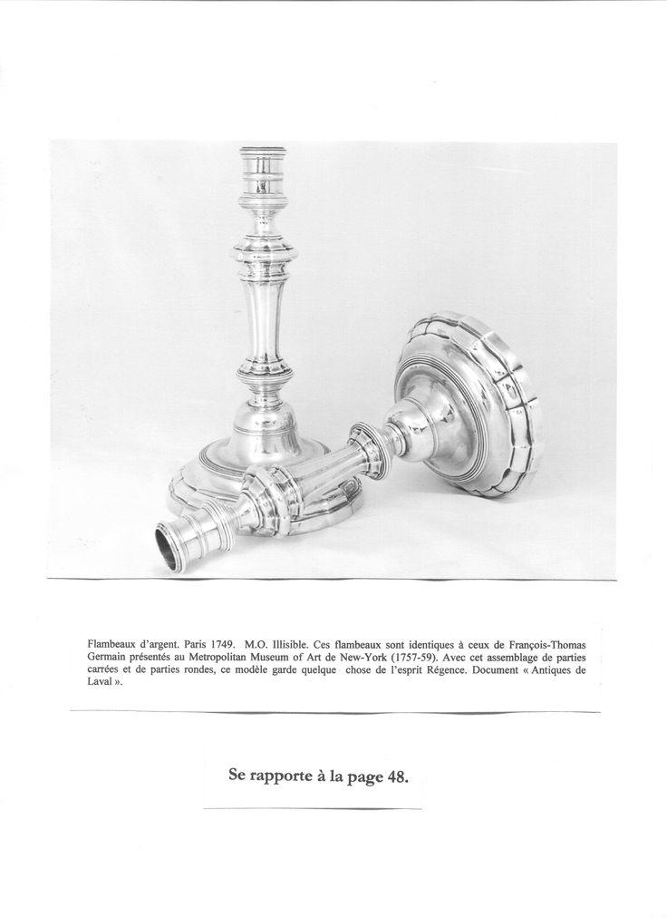 Page 42. Modèle de flambeau de François-Thomas Germain. Document Antiques de Laval. Pinterest/disdierdefay