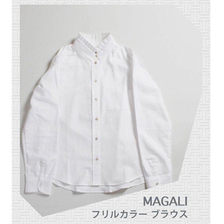 Here will also be popular products!  MAGALI ruffle collar blouse  Simple yet pocket to the chest, the back of the tack, Aki of cuffs, such as the neck of tack frills, making it a delicate making. .  Enjoy a coordinated regardless of the season.  In exceptional comfort, patronize many years.  http://kanden43.jp/?pid=1513020  #MAGALI #Rufflecollarblouse #shirt #tops #LadiesFashion #NaturalFashion #Natural #Naturalsystem #selectshop #Japan #MadeinJapan